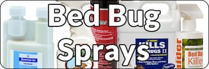 Bed Bug Sprays page Banner