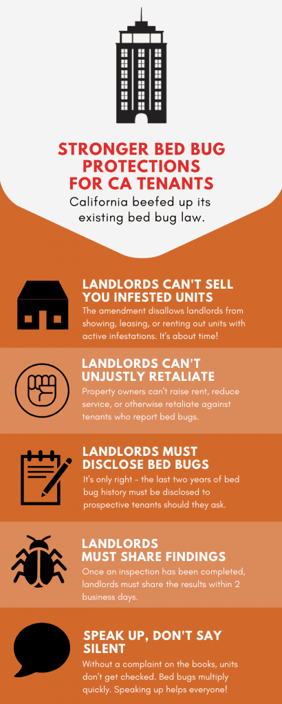 Bed bug california renters law infographic