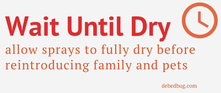 dry bed bug spray safety